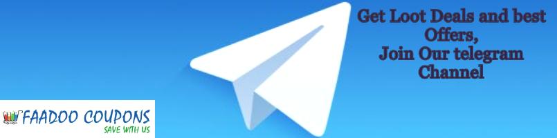 Faadoo coupons telegram channel