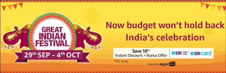 Amazon Great Indian Festival Sale Offers 2019