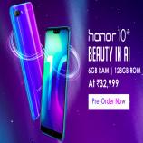 Honor 10 Flipkart Price @Rs 32999 : Pre-Order Sale @16th May Buy Online In India