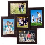 WENS 5-Picture MDF Photo Frame (17 inch x 17 inch, Brown) just at Rs 398 only from Amazon