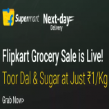 Flipkart Grocery Offers: Buy Grocery Products at Upto 99% OFF starting Just at Rs 1 on From Flipkart Grocery + Extra 20% Instant Discount Using HDFC Debit/Credit Cards