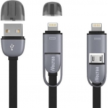 Buy iVoltaa Micro & Lightning 2 in1 Sync & Charge USB Cable (Black) from flipkart just at Rs 129 only