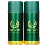 Buy Denver Hamilton Deo Combo Body Spray - For Men  (330 ml, Pack of 2) from flipkart just at Rs 157 only