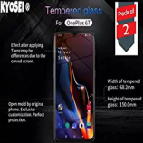 Buy KYOSEI Tempered Glass for OnePlus 6T (Transparent) Full Screen Coverage (Except Edges) with easy installation kit at Rs 149 from Amazon