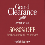 Myntra Grand Clearance Sale Offer: Get Upto 50%-80% OFF Fashion Clothing, Extra Discount via Paypal & HDFC Bank Cards [29th feb- 3rd March]