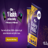 Jio Cadbury Offer: Play Games and Win Talktime, Samsung Mobiles, Laptop and Upto Rs 1 Lakh cash