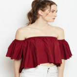 Myntra Womens Clothing Offers: Flat 70% OFF on Women Maroon Solid Bardot Top
