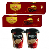 Buy Nestle ALPINO 5-Bonbon Chocolate 57.5g + NESCAFE Latte Xpress Coffee Cup Pack 25g (Pack of 2) at 168 from Snapdeal