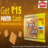 Paytm Krackjack Offers: Get Rs 15 Cash Free with Parle Krackjack pack