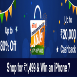 Paytm Independence Day Sale Offers 8th-15th Aug: Upto 80% OFF on Cloths + 30% Cashback on Mobile