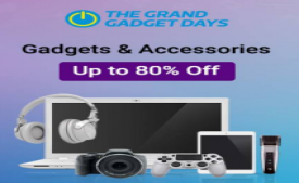 Flipkart The Grand Gadget Days Sale : Grab Best Offers on Mobiles, TV's, Laptops, Camera, Memory cards, Powerbanks and many more + Extra 15% cashback* using PhonePe