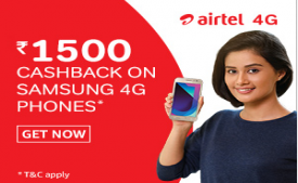 Amazon Airtel Mobile Offer: Get Rs 2,600 Cashback On New 4G Smartphone with Airtel 4G