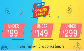 Snapdeal Sunday Value Market: Get Upto 80% OFF on Home, Fashion, Electronics & More, Get Extra 10% Instant Discount* using SBI Bank Debit/Credit Cards