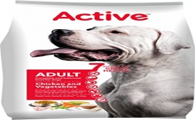 Buy Active Chicken and Vegetable Adult Dog Food, 1.2 kg just at Rs 46 from Amazon