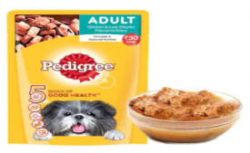 Buy Pedigree Gravy Adult Dog Food Chicken & Liver Chunks 80 g just at Rs 1 only From Paytmmall [Free Shipping]