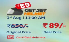 Droom Get Set Helmet Sale: Buy Droom Certified Helmets just at Rs 89 Only On 1st August 2018 at 11 Am onwards