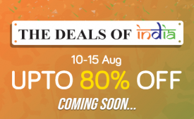 Snapdeal Deals Of India [10th-15th Aug]: Get Upto 80% OFF Clothes, Electronics, Mobiles (Coming Soon)