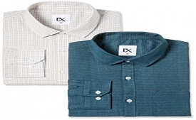 Amazon Shirt Offer: Get Upto 80% OFF on Ex by Excalibur Men's Solid Regular Fit Formal Shirts starting just @ Rs 221 Only
