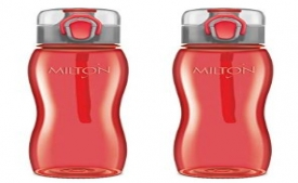 Buy Milton Rock Unbreakable Tritan Water Bottle Set, 750ml, Set of 2, Red just at Rs 268 only from Amazon