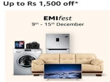 Amazon EMI Fest Offers [9th To 15th Dec]: Get 5% Discount On Electronics,Mobiles and Furnitures Via ICICI Credit Card EMI Transaction