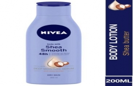 Buy Nivea Smooth Milk Body Lotion For Dry Skin 200ml at Rs 169 from Amazon