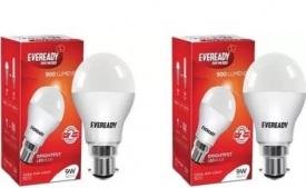 Buy Eveready 9 W Standard B22 LED Bulb  (White, Pack of 2) at Rs 179 from Flipkart