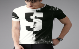 Buy Branded Men Printed Round Neck T-shirt starting just at Rs 130 only From Amazon