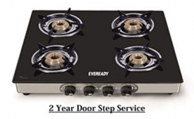 Buy Eveready TGC4B Glass Top 4 Burner Gas Stove - Black from Amazon at Rs 2799 only