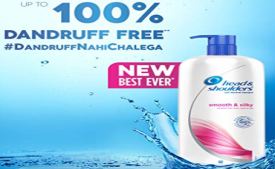 Buy Head & Shoulders Smooth and Silky Shampoo, 1L  at Rs 350 from Amazon