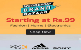 Shopclues Wednesday Brand Bazaar Sale: Get Products starting just at Rs 99, Get Rs 200 OFF on Shopping worth Rs 500 on all Prepaid Orders