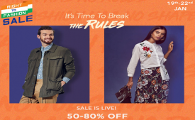 Myntra Right To Fashion Sale: Get Upto 50-80% Off on All Fashion Products + Extra 15% Instant Discount Via YES Bank Debit/Credit Card [19th-22nd Jan]
