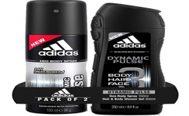 Buy Adidas Dynamic Pulse Deodorant Body Spray, 150ml with Dynamic Pulse Shower Gel, 250ml at Rs 201 from Amazon