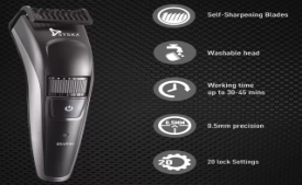 Buy Syska UltraTrim HT800 Cordless Trimmer for Men (Black, Grey) at Rs 748 from Flipkart