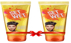 Buy Set Wet Ultimate Hold Hair Styling Gel for Men, 100 ml (Pack of 2) at Rs 100 only from Amazon