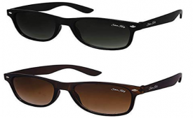 Buy Silver Kartz Combo of 2 Wayfarer Unisex Sunglasses at Rs 99 from Amazon