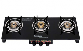 Buy Suryajwala Frameless 3 Burner Gas Stove, Black from Amazon at Rs 2279 only