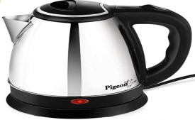 Buy Pigeon Shiny Steel 1.5-Litre Electric Kettle (Black) at Rs 635 from Amazon