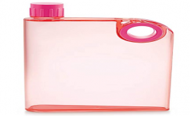 Buy LMS A5 Notebook Plastic Bottle, 380ml, Pink at Rs 89 only from Amazon