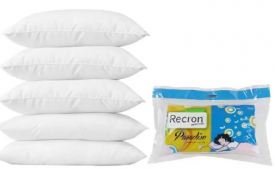Buy Recron Certified Plain Bed/Sleeping Pillow Pack of 5  (White) just at Rs 569 only from Flipkart