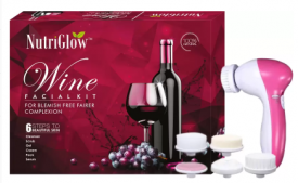 Buy Nutriglow Wine Facial Kit (250+10)g with 5 in 1 Face Massager Free  (Set of 2) from Flipkart just at Rs 460 only