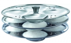 Buy Howdy Stainless Steel Idli Stand 3 plate Standard Idli Maker (3 Plates, 12 Idlis ) Induction Idli Maker just at Rs 89 only From Flipkart