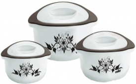 Buy Cello Hot Meal Pack of 3 Thermoware Casserole Set  (500 ml, 850 ml, 1500 ml) at Rs 399 from Flipkart