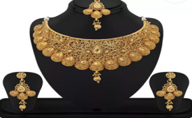 Buy Reeva Fashion Jewellery Zinc Jewel Set (Gold) at Rs 299 only from Flipkart