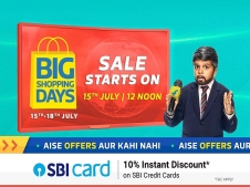 Flipkart Big Shopping Days Offers [15th July-18th July 2019]: Get Upto 90% OFF on Mobiles, Electronics Gadgets, Clothing Footwear and more, Extra 10% instant Discount* with SBI Cards