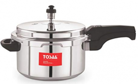 Buy Tosaa Ultra Delux Aluminium Pressure Cooker, 3 litres, Silver at Rs 512 only from Amazon
