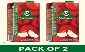 Buy B Natural Juice 1L (Pack of 2) just at Rs 140 Only from Amazon