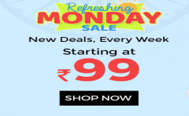 Shopclues Refreshing Monday Sale: Upto 80% Off on Electronics, Lifestyle and New Deals Starting Just at Rs 99 only