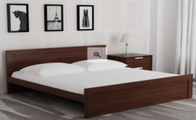 Pepperfry Furniture Loot Offer:- Get Flat Upto 71% OFF on Dazzle King Bed in Walnut Finish by HomeTown