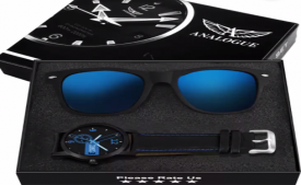 Buy Analogue  Blue Wayfarer Combo FREE Sunglass and Combo Box Analog Watch - For Men at Rs 199 only from Flipkart