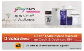 Amazon Godrej Days Offers: Upto 30% OFF on Godreh Electronic Appliances, Extra Upto Rs 1500 instant Discount Via ICICI Card